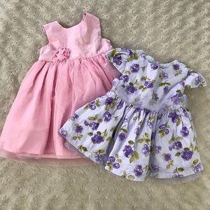 Carter's Pink Dress Koala Kids Floral Bundle 3M